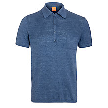 Buy BOSS Orange Knit Pocket Polo Shirt, Illusion Online at johnlewis.com