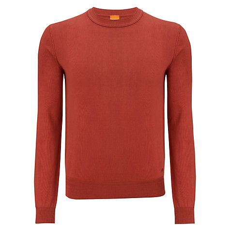 Buy Boss Orange Crew Neck Cotton Jumper Online at johnlewis.com
