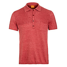 Buy BOSS Orange Knit Pocket Polo Shirt, Stereo Online at johnlewis.com