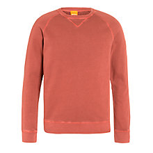 Buy Boss Orange Washed Jersey Sweatshirt Online at johnlewis.com