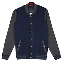 Buy Ted Baker Elayex Baseball Jersey Jacket, Navy/Grey Online at johnlewis.com