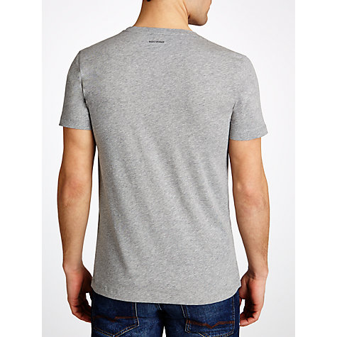 Buy BOSS Orange Crew Neck Logo T-Shirt, Grey Marl Online at johnlewis.com
