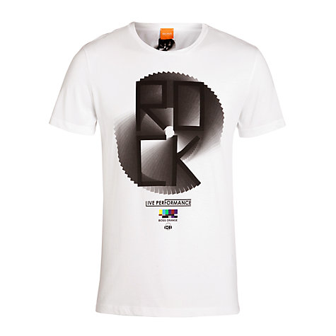 Buy BOSS Orange Rock Graphic T-Shirt Online at johnlewis.com