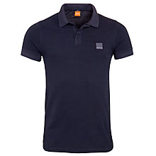 Buy BOSS Orange Pascha Slim Fit Polo Shirt, Navy Online at johnlewis.com