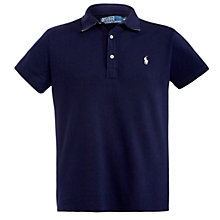 Buy Polo Ralph Lauren Solid Gingham Polo Shirt, Navy Online at johnlewis.com