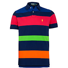 Buy Polo Ralph Lauren Striped Polo Shirt, Blue/Multi Online at johnlewis.com