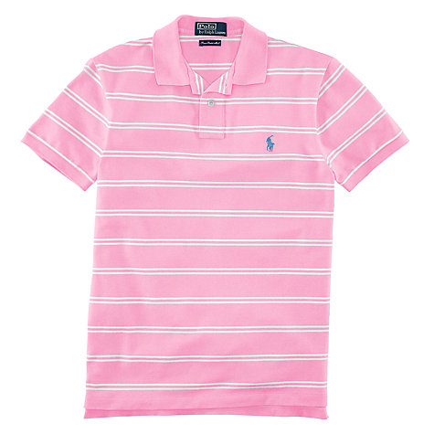 Buy Polo Ralph Lauren Striped Slim Fit Stretch Polo Shirt Online at johnlewis.com