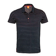 Buy Boss Orange Striped Polo Shirt, Navy Online at johnlewis.com
