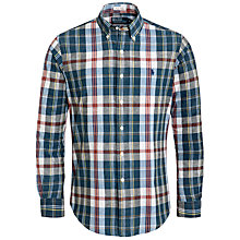 Buy Polo Ralph Lauren Madras Check Custom Fit Long Sleeve Shirt, Indigo/Red Online at johnlewis.com