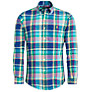 Buy Polo Ralph Lauren Custom Fit Check Long Sleeve Shirt, Turquoise/Multi Online at johnlewis.com