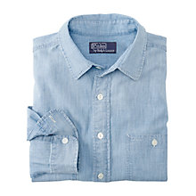 Buy Polo Ralph Lauren Classic Long Sleeve Chambray Shirt, Blue Online at johnlewis.com