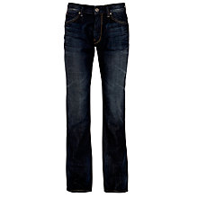 Buy Boss Orange Whiskered Straight Leg Jeans, Mid Blue Online at johnlewis.com