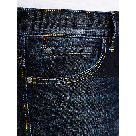 Buy BOSS Orange Whiskered Straight Jeans, Mid Blue Online at johnlewis.com