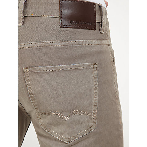 Buy BOSS Orange Slim Leg Jeans, Beige Online at johnlewis.com