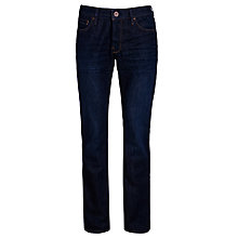 Buy BOSS Orange Slim Fit Straight Leg Jeans, Dark Moonlight Online at johnlewis.com