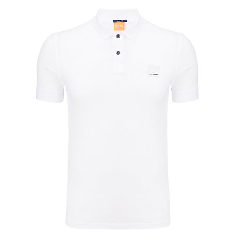 Buy BOSS Orange Classic Polo Shirt, White Online at johnlewis.com