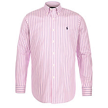 Buy Polo Ralph Lauren Striped Custom Fit Shirt, Pink/White Online at johnlewis.com