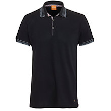 Buy Boss Orange Trim Detail Polo Shirt, Navy Online at johnlewis.com