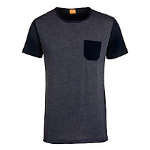 Buy Boss Orange Contrast Pocket T-Shirt, Navy Online at johnlewis.com