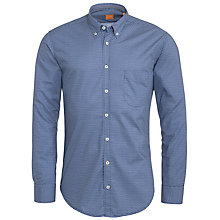 Buy Boss Orange Micro Square Dobby Shirt, Blue Online at johnlewis.com