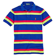 Buy Polo Ralph Lauren Striped Polo Top, Pacific Royal Online at johnlewis.com