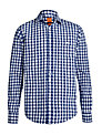 Boss Orange Check Slim Fit Shirt, Blue/White