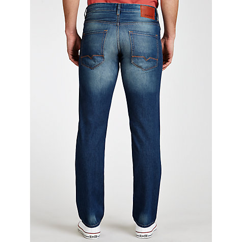 Buy BOSS Orange Mid Wash Orange 25 Jeans, Light Blue Online at johnlewis.com