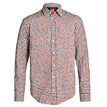 Buy BOSS Orange Overlayed Dot Long Sleeve Shirt, Multi Online at johnlewis.com