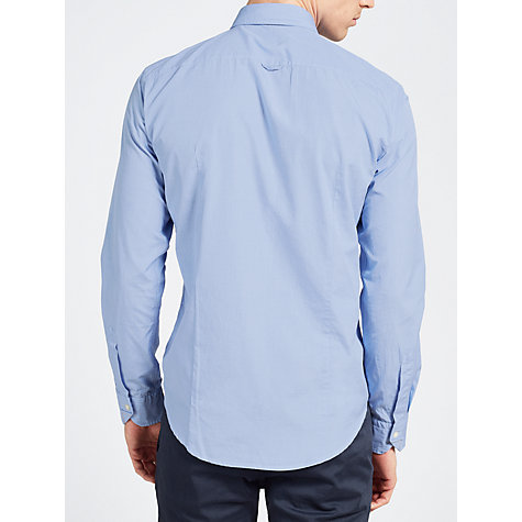 Buy BOSS Orange Plain Long Sleeve Shirt, Blue Online at johnlewis.com