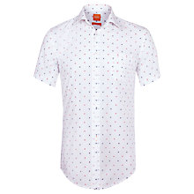 Buy BOSS Orange All Over Polka Dot Short Sleeve Shirt, Multi Online at johnlewis.com