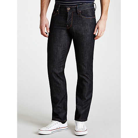 Buy BOSS Orange Slim Fit Straight Leg Jeans, Dark Indigo Online at johnlewis.com