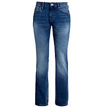 Buy BOSS Orange Straight Jeans, Light Blue Online at johnlewis.com