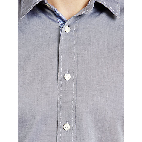 Buy BOSS Orange Oxford Long Sleeve Shirt, Navy/White Online at johnlewis.com
