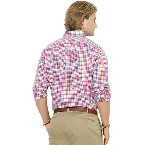 Buy Polo Ralph Lauren Checked Poplin Cotton Shirt Online at johnlewis.com
