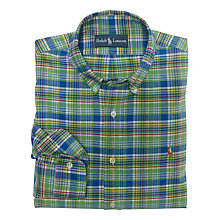 Buy Polo Ralph Lauren Custom Fit Check Oxford Shirt Online at johnlewis.com