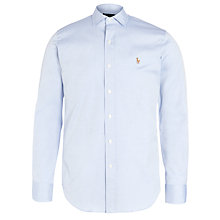 Buy Polo Ralph Lauren Pinpoint Shirt, Light Blue Online at johnlewis.com