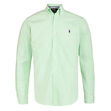 Buy Polo Ralph Lauren Bengal Stripe Shirt, Green/White Online at johnlewis.com