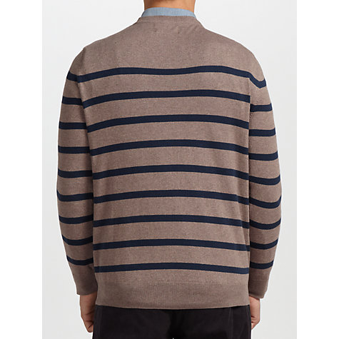 Buy Barbour Cashmere Cotton Blend Breton Stripe Jumper Online at johnlewis.com
