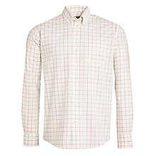 Buy Barbour Ascot Check Button-Down Shirt, Ecru Online at johnlewis.com