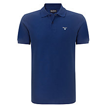 Buy Barbour Pique Cotton Sports Polo Shirt, Dark Blue Online at johnlewis.com