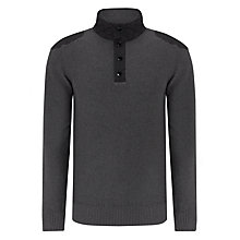 Buy Barbour International Falltown Button Neck Jumper Online at johnlewis.com