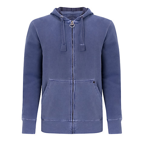 Buy Barbour Laundryman Laundered Full Zip Hoodie Online at johnlewis.com