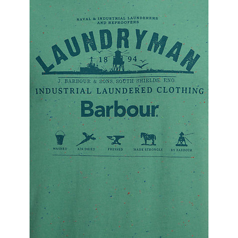 Buy Barbour Laundryman Logo Print Short Sleeve T-Shirt Online at johnlewis.com