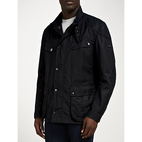 Buy Barbour International Simonside Jacket, Navy Online at johnlewis.com