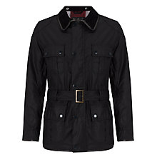 Buy Barbour International Hepburn Waxed Cotton Field Jacket, Navy Online at johnlewis.com