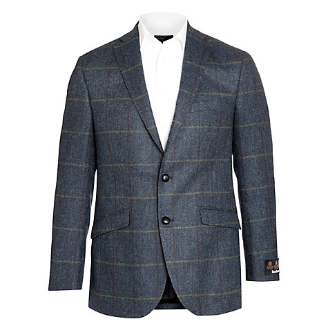 Buy Barbour Jasper Tweed Blazer, Blue Online at johnlewis.com