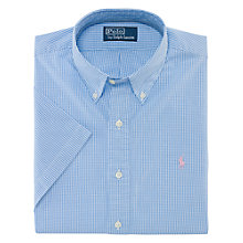 Buy Polo Ralph Lauren Gingham Short Sleeve Shirt, Blue/White Online at johnlewis.com