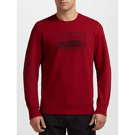 Buy Barbour International Tourer Crew Neck Sweatshirt Online at johnlewis.com