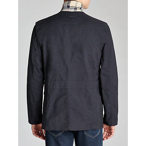 Buy Barbour Sander Cotton Blend Jacket, Navy Online at johnlewis.com