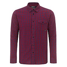 Buy Barbour Brett Check Shirt, Red/Blue Online at johnlewis.com